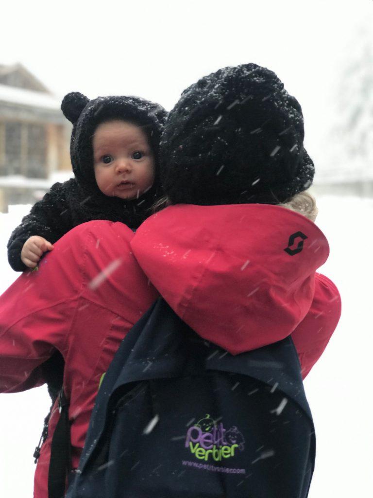 A Petit Verbier nanny enjoying her ski season job